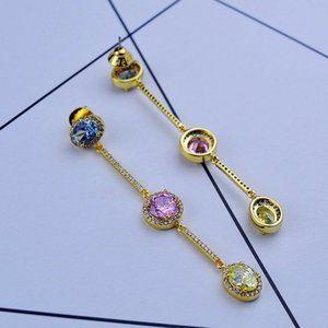 Henri Bendel Zircon Candy Color Earrings